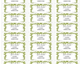 Green Ivy Address Label-Green Ivy Return Label-Green Ivy Label-Personalized Address Label-Ivy Printable Labels-Printable Address Label-DIY