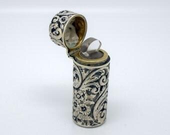 Colen Hewer Cheshire Birmingham Antique Silver Scent Bottle 1897