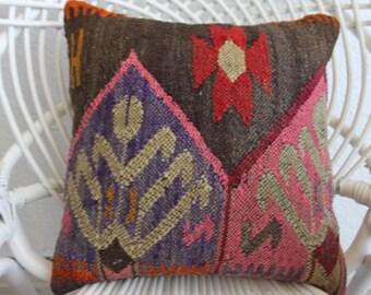16x16 kilim pillow pink floral pillow cover 16x16 coussin kilim 16x16 puple kilim rug cushion covers kilim pillow sofa cushion cover 520