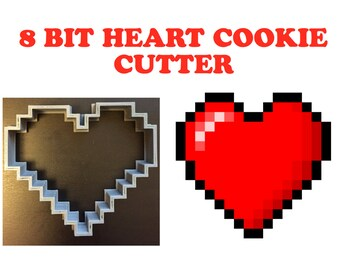 8 Bit Heart Cookie Cutter