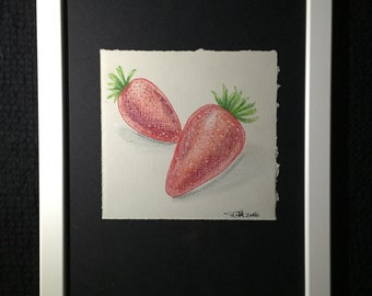 Mini Drawing #8 - Strawberries