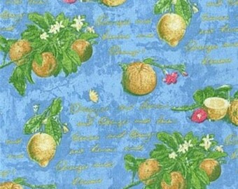 Waverly Citrus Grove color Blue, Fabric Drapery Home Décor Decorative