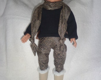 "pant/top/hat/scarf suitable for american girl or other 18"" dolls"