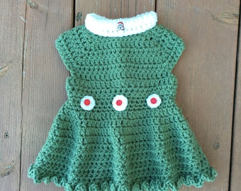 Crocheted Girls Holiday Dress