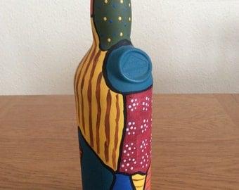 Bottle Hand painted art
