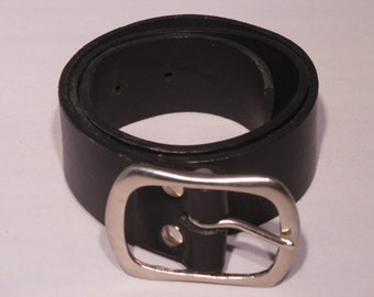 Ladies Silver Buckle for Leather Jean Belt - Designer Quality Leather Hide from Italy and hand crafted in the UK