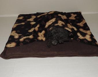 Dog Bone Print Pet Snuggle Bed