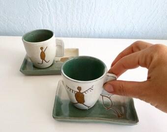 Ceramic espresso cups (set of 2)