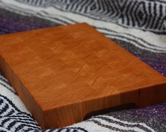 Hardwood End Grain Butcher Block Cutting Board: Cherry