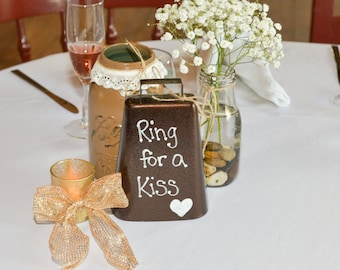 Ring for a Kiss Wedding Cowbell
