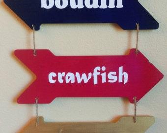 Cajun Cuisine Hanging Arrows