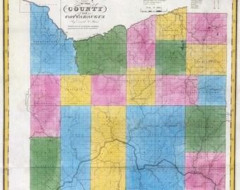 1829 Map of Cattaraugus County New York