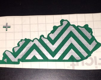 Kentucky Pattern Zig Zag vinyl decal