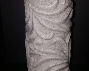 Rock carved led candle