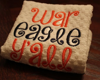Auburn Appliqued and Embroidered Hand Towels (Set of 4)