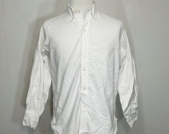 50's vintage brooks brothers oxford gusset button down shirt size medium