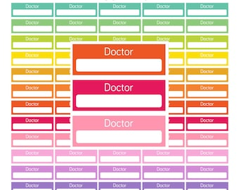 Printable Doctor Stickers Printable Doctor planner Stickers Doctor appointment sticker medical sticker life planner sticker instant download