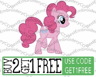 MLP Pinkie Pie Embroidery Design