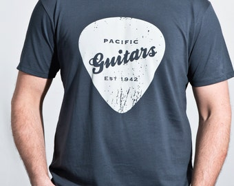Organic cotton men's t-shirt - Pacific Guitars