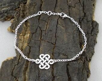Celtic knot silver love knot bracelet