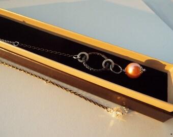 Bookmark jewel glass salmon