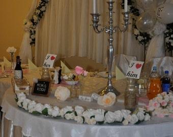 Garland, Table wedding girlande, Wedding Flowers Decorations, Crepe Paper Flowers