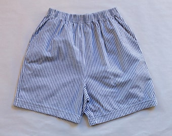 "USA made striped high waisted ""athletic"" shorts"