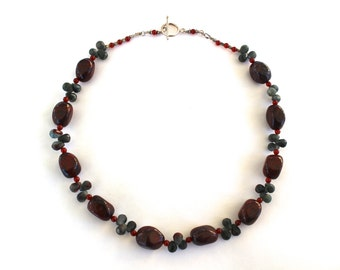 Red Jasper Beaded Necklace