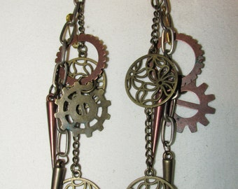 Steam Punk Inspired Dangling Earrings