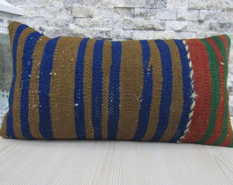decorative kilim rug kilim pillow 10 x 20 inches kilim pillow kilim pillow handwoven vintage turkish kelim cushion bohemian pillow