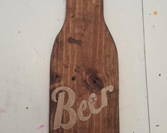 Custom Pallet Wood Soda/Beer Wall hanger