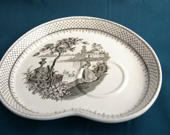 2 plates breakfast combination saucer flat Adams Ironstone collection Minuet