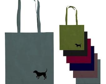 Crafty beagle cotton canvas shopper / tote bag.