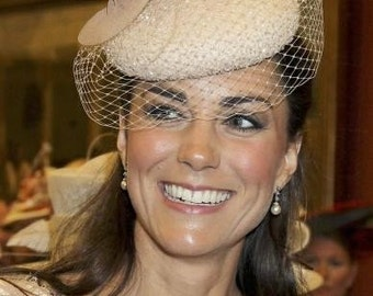 Simulated Pearl with Crystals as seen on Kate Middleton