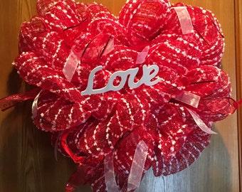 Deco Mesh Love Wreath