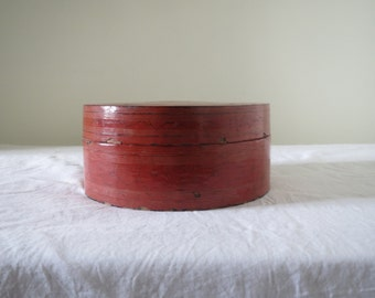 Red Burmese Lacquer Betel Box- Medium sized
