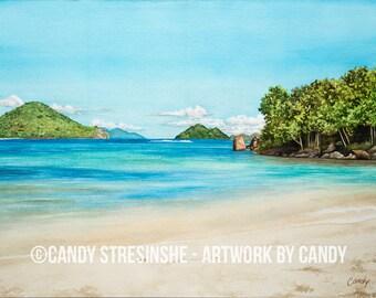 PRINTABLE ART - St. Thomas Beach