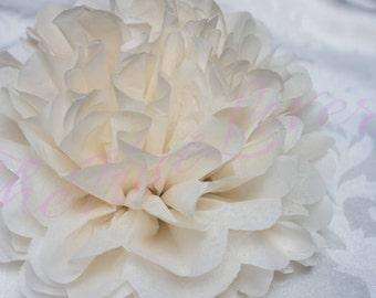 KHAKI/ 1 tissue paper Pompoms,single pompom,nursery room decoration, baby shower,wedding,birthday,engagement,bridal shower,DIY, centerpieces