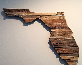 Reclaimed moasic FL State Sign