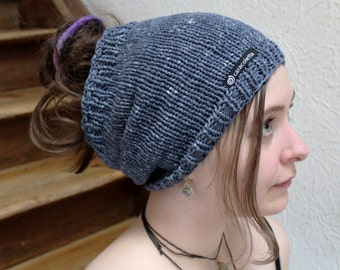 Dread Slouchy, dread hat, dread tube cotton jeans blue