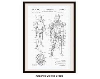 GI Joe Patent Poster Print (Not Framed)