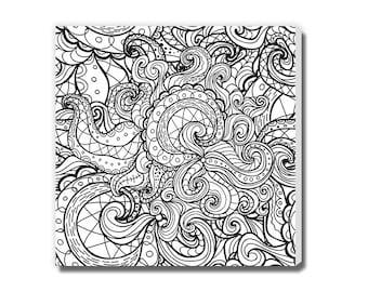 Coloring canvas | Etsy