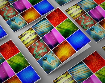 Square Photographic Greetings Cards Mixed Pack of 5 Designs