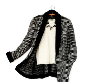 wool boyfriend jacket / vintage blazer / boyfriend blazer / vintage wool coat / wool blazer / wool boyfriend blazer