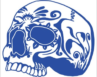 Sugar Skull Custom Vinyl Decals / Stickers  (2 Pack)