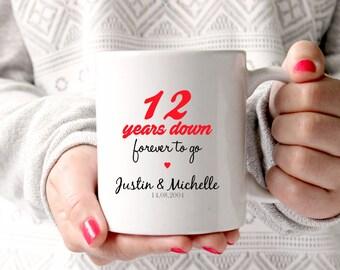 anniversary gift, 12th wedding anniversary, 12th anniversary, 12 years ...
