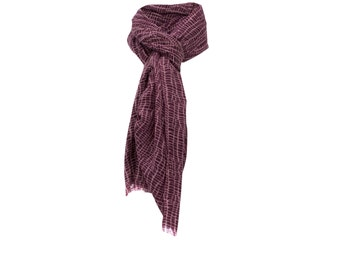 Purple woolen scarf