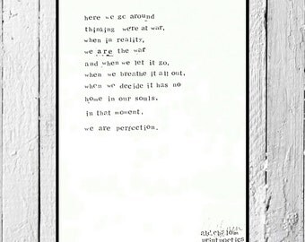 Signed Original Hand stamped Poem / poetry