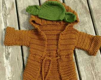 Yoda inspired baby costume/photo prop - size 3-6 months