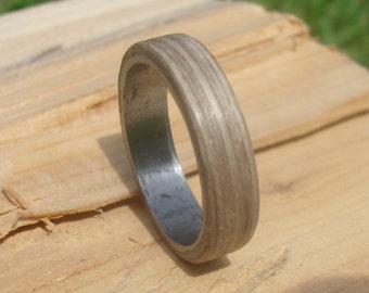 Bentwood ring stainless steel grey oak